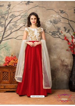Red Dazzling Designer Party Wear Lehenga Choli