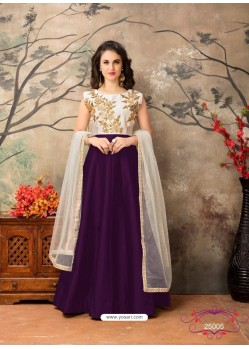 Purple Dazzling Designer Party Wear Lehenga Choli
