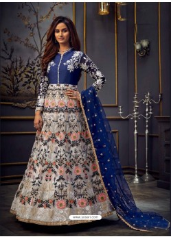 Multi Colour Latest Designer Heavy Embroidered Party Wear Anarkali Suit