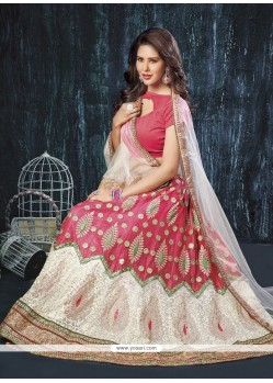 Magnificent Patch Border Work Net A Line Lehenga Choli