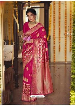 Rani Designer Classic Wear Jacquard Silk Sari