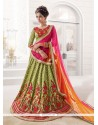 Best Raw Silk A Line Lehenga Choli