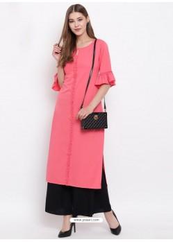 Peach Designer Readymade Party Wear Kurti
