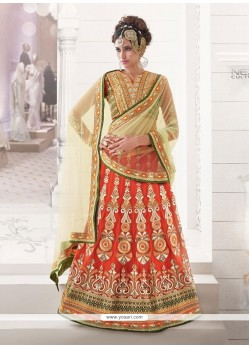 Renowned Resham Work Multi Colour A Line Lehenga Choli
