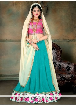 Spellbinding Patch Border Work A Line Lehenga Choli