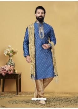 Blue Exclusive Readymade Kurta Pajama