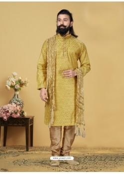 Yellow Exclusive Readymade Kurta Pajama