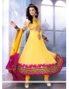 Epitome Yellow Georgette Anarkali Salwar Suit