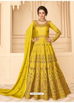 Corn Latest Designer Heavy Embroidered Party Wear Anarkali Suit