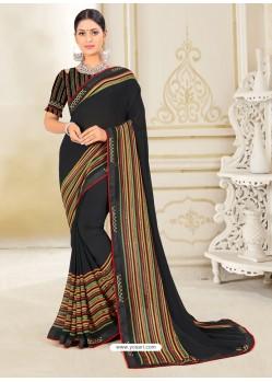 Black Scintillating Latest Designer Party Wear Sari