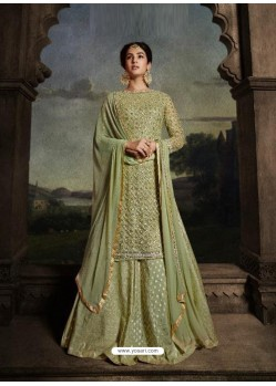 Green Latest Designer Heavy Embroidered Party Wear Wedding Suit