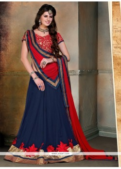 Suave Patch Border Work A Line Lehenga Choli