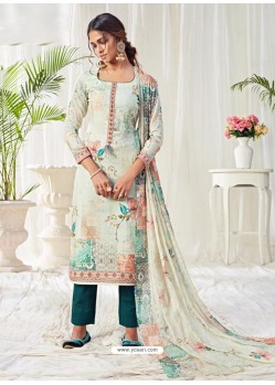 Multi Colour Designer Party Wear Cotton Palazzo Suit