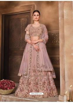 Light Brown Designer Heavy Embroidered Wedding Lehenga Choli