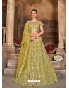 Corn Designer Heavy Embroidered Wedding Lehenega Choli