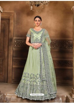 Sea Green Designer Heavy Embroidered Wedding Lehenga Choli