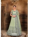 Sea Green Designer Heavy Embroidered Wedding Lehenega Choli