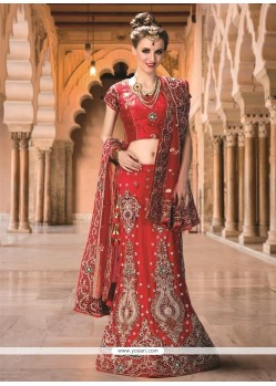 Intrinsic Net Red Embroidered Work A Line Lehenga Choli