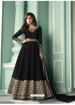 Black Latest Designer Heavy Embroidered Party Wear Anarkali Suit