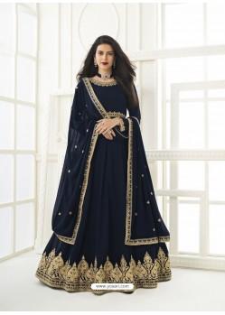 Navy Blue Latest Designer Real Georgette Party Wear Anarkali Suit