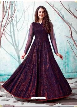 Navy Blue Stunning Designer Party Wear Gown
