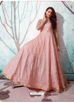 Baby Pink Stunning Designer Party Wear Gown