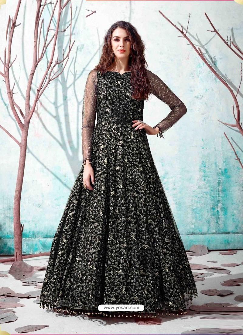 Black Stunning Designer Party Wear Gown