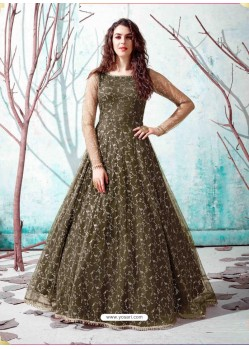 Mehendi Stunning Designer Party Wear Gown