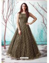 Mehendi Stunning Designer Party Wear Gown