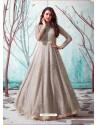 Light Beige Stunning Designer Party Wear Gown
