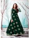 Dark Green Stunning Designer Party Wear Gown
