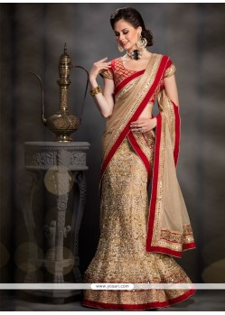 Sensible Net Embroidered Work A Line Lehenga Choli