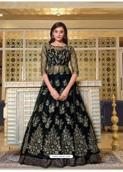 Black Elegant Latest Designer Net Party Wear Anarkali Suit
