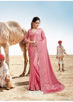 Pink Latest Designer Party Wear Fancy Sari