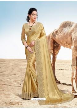 Gold Latest Designer Party Wear Fancy Sari