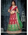 Beautiful Net Red A Line Lehenga Choli