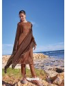 Copper Latest Heavy Designer Party Wear Straight Salwar Suit