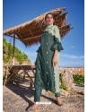 Grayish Green Latest Heavy Designer Party Wear Straight Salwar Suit
