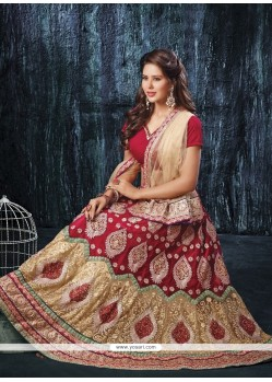 Outstanding Net Red A Line Lehenga Choli