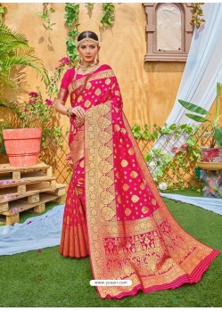Rani Latest Designer Classic Wear Zari Silk Sari