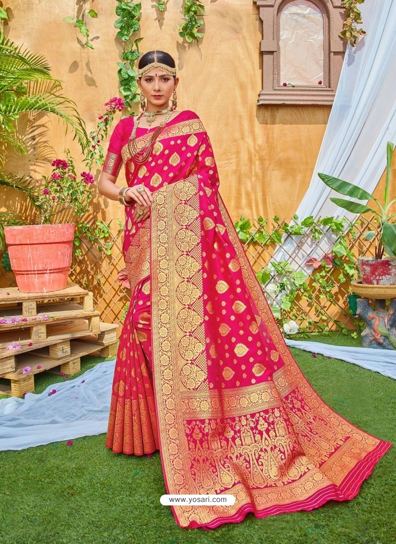 Rani Latest Designer Classic Wear Zari Silk Sari