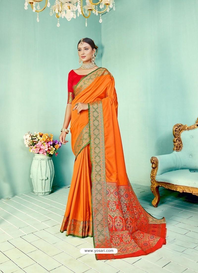 Mustard Latest Designer Party Wear Paithani Pallu Soft Silk Sari