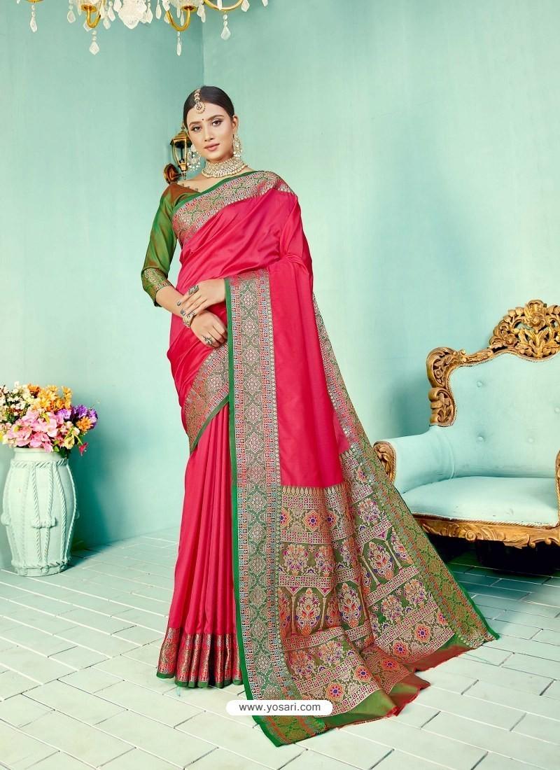 Rani Latest Designer Party Wear Paithani Pallu Soft Silk Sari