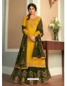 Yellow Real Georgette Designer Party Wear Wedding Suit