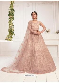Baby Pink Latest Designer Wedding Wear Lehenga Choli