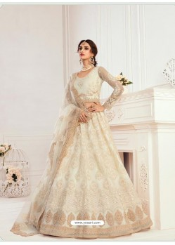 Off White Latest Designer Wedding Wear Lehenga Choli