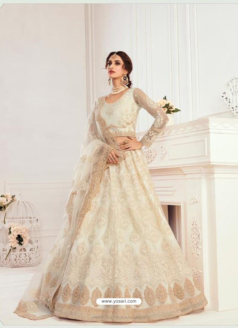 Off White Latest Designer Wedding Wear Lehenga Choli
