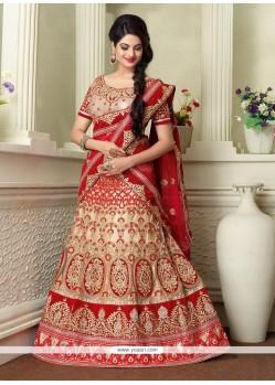 Charming Resham Work Net A Line Lehenga Choli
