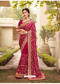 Rani Designer Traditional Wear Heavy Vichitra Blooming Sari