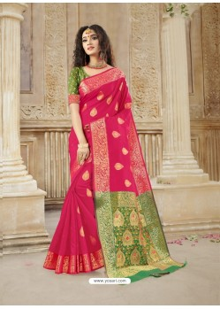Rani Latest Designer Party Wear Soft Silk Sari